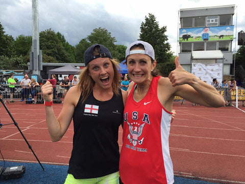 Erin O'Mara after winning beer mile world classic