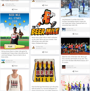 The Beer Mile Social Feed