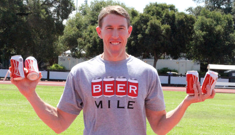 James Nielsen first sub-5 beer mile
