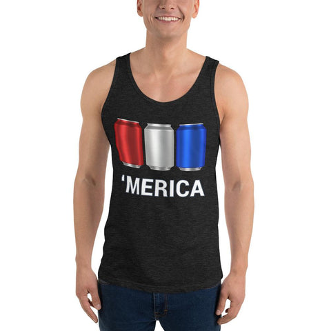 'Merica Red White and Blue Beer Cans Drinking Tank