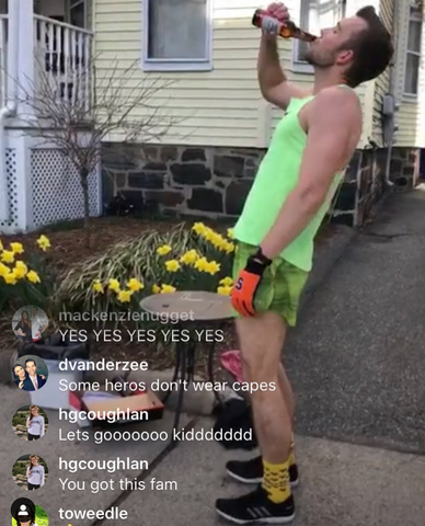 Beer Mile on Instagram Live