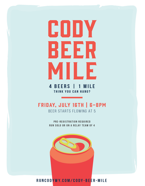 Cody Beer Mile 2021 Poster