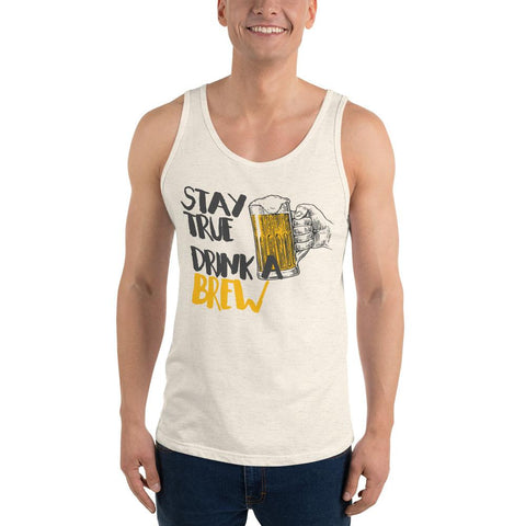 Stay True Drink a Brew Beer Drinking Tank Top