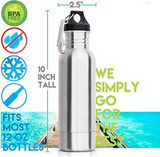 Insulated Stainless Steel Beer Bottle Holder w/Bottle Opener-Novelty-The Beer Mile-The Beer Mile