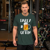 Early & Often Drinking Shirt-Shirts-The Beer Mile-Heather Forest-S-The Beer Mile