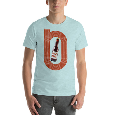Beer Mile Track Color T-Shirt-Shirts-The Beer Mile-Heather Prism Ice Blue-XS-The Beer Mile