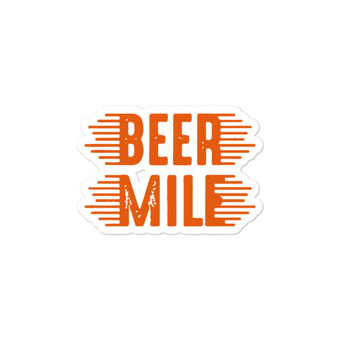Beer Mile Sticker-Stickers-The Beer Mile-3x3-The Beer Mile