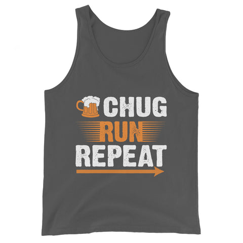 Chug Run Repeat Tank Top-Tanks-The Beer Mile-Asphalt-XS-The Beer Mile