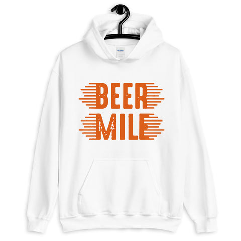 Beer Mile Hoodie-Sweatshirts-The Beer Mile-White-S-The Beer Mile