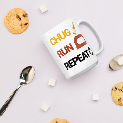 Chug Run Repeat Beer Mile Coffee Mug-Mugs-The Beer Mile-15oz-The Beer Mile