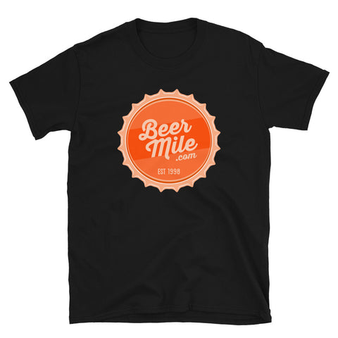 BeerMile.com Vintage Bottle Cap T-Shirt-Shirts-The Beer Mile-Black-S-The Beer Mile