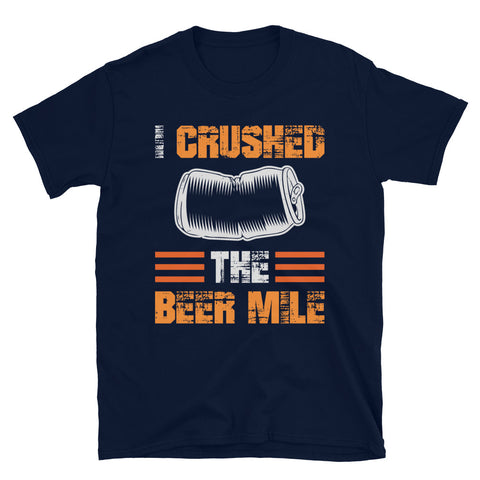 I Crushed The Beer Mile Shirt-Shirts-The Beer Mile-Navy-S-The Beer Mile