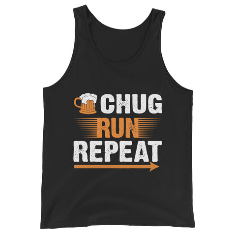 Chug Run Repeat Tank Top-Tanks-The Beer Mile-Black-XS-The Beer Mile