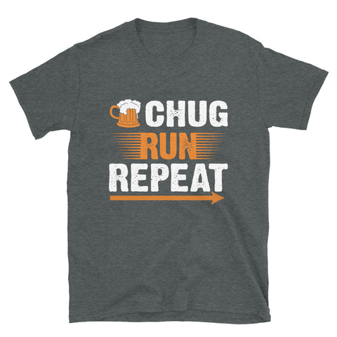 Chug Run Repeat Beer Mile Shirt-Shirts-The Beer Mile-Dark Heather-S-The Beer Mile