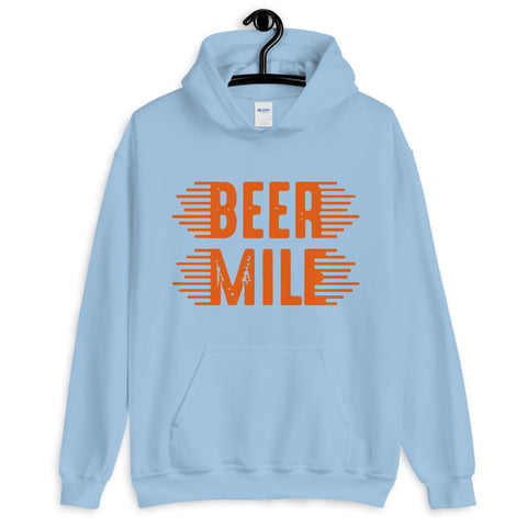 Beer Mile Hoodie-Sweatshirts-The Beer Mile-Light Blue-S-The Beer Mile