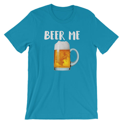 Beer Me Drinking Shirt-Shirts-The Beer Mile-Aqua-S-The Beer Mile
