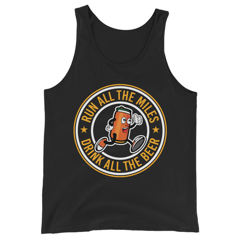 Run All The Miles Drink All The Beer Tank-Tanks-The Beer Mile-Black-XS-The Beer Mile