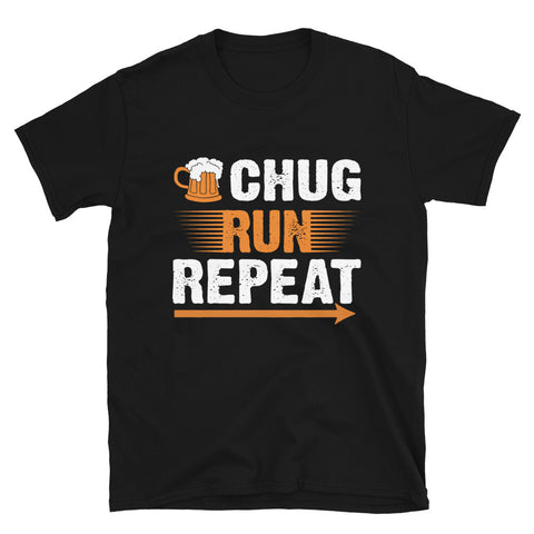 Chug Run Repeat Beer Mile Shirt-Shirts-The Beer Mile-Black-S-The Beer Mile