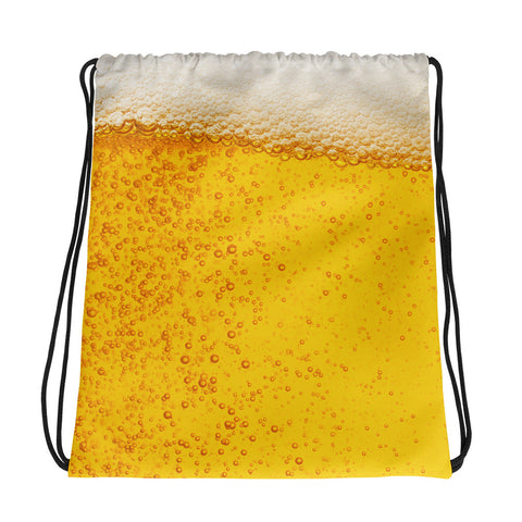 Beer All Over Drawstring Bag-Bags-The Beer Mile-The Beer Mile