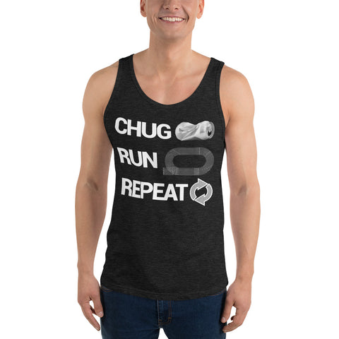 Chug Run Repeat Beer Mile Tank Top-Tanks-The Beer Mile-Charcoal-black Triblend-XS-The Beer Mile