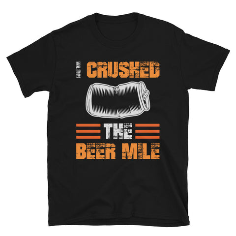 I Crushed The Beer Mile Shirt-Shirts-The Beer Mile-Black-S-The Beer Mile