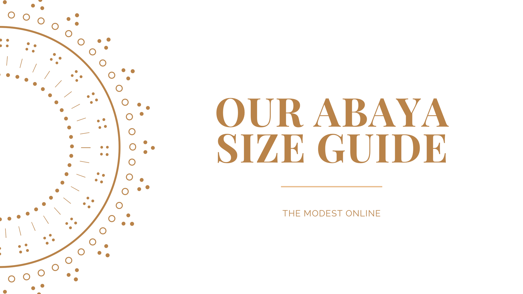 How to choose the right size abaya The Modest Online
