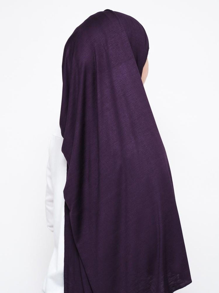 Jersey Hijab - Dark Purple