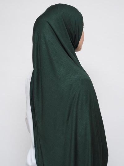 Jersey Hijab - Forest Green