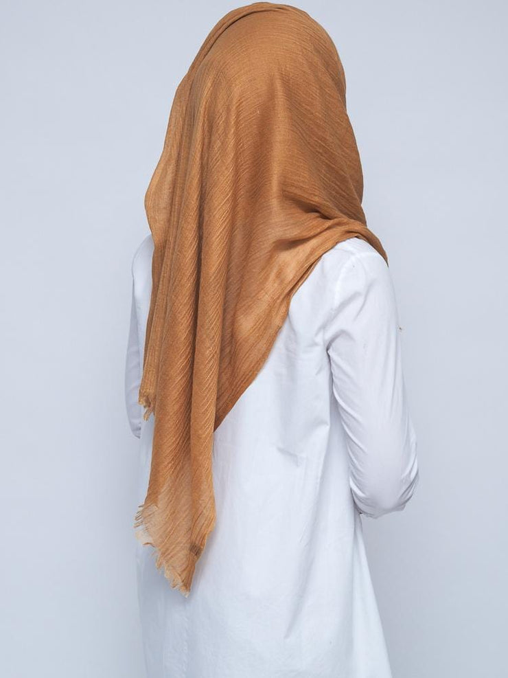 Wool Mix Hijab - Mustard