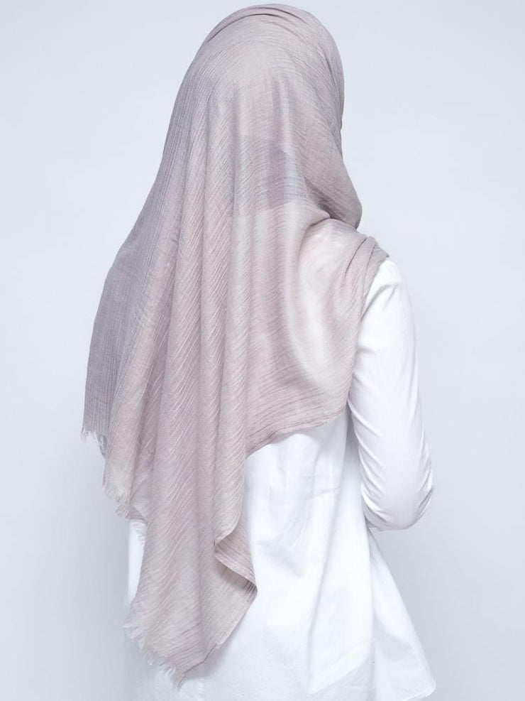 Wool Mix Hijab - Mocca