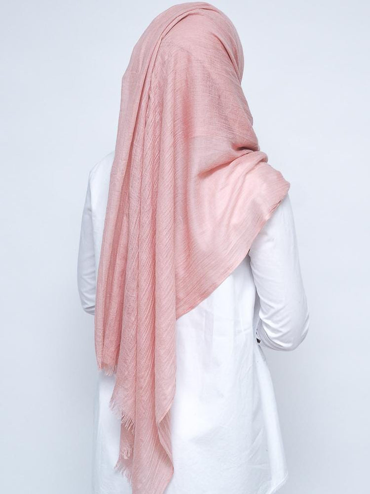 Wool Mix Hijab - Rose