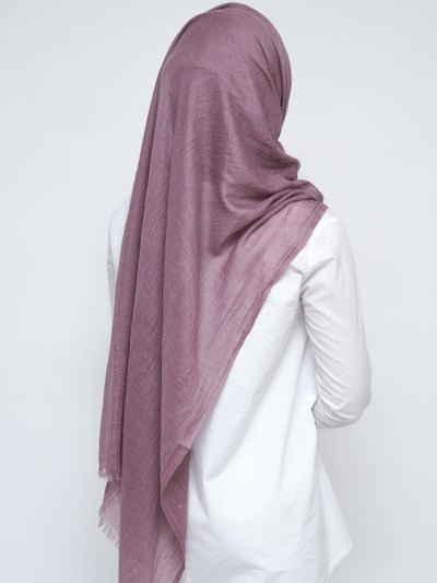 Wool Mix Hijab - Orchid