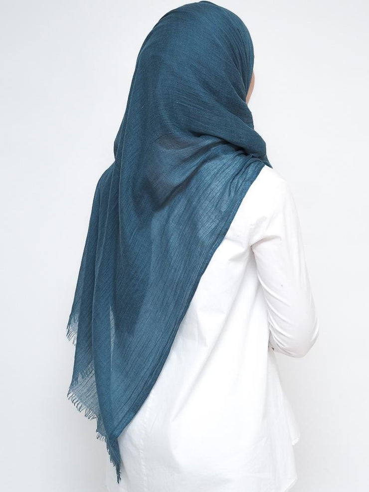 Wool Mix Hijab -Teal