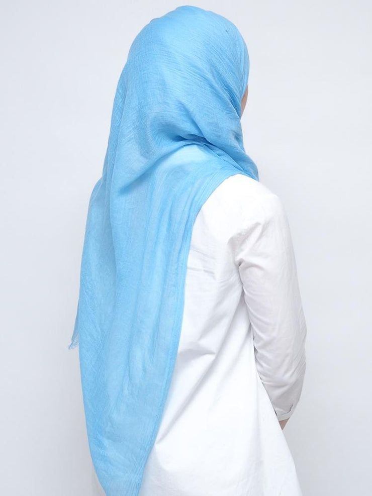 Cornflower Blue Wool Mix Hijab