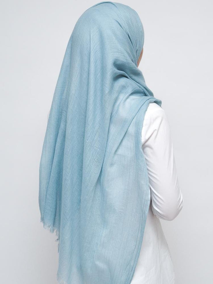 Wool Mix Hijab - Mint Blue