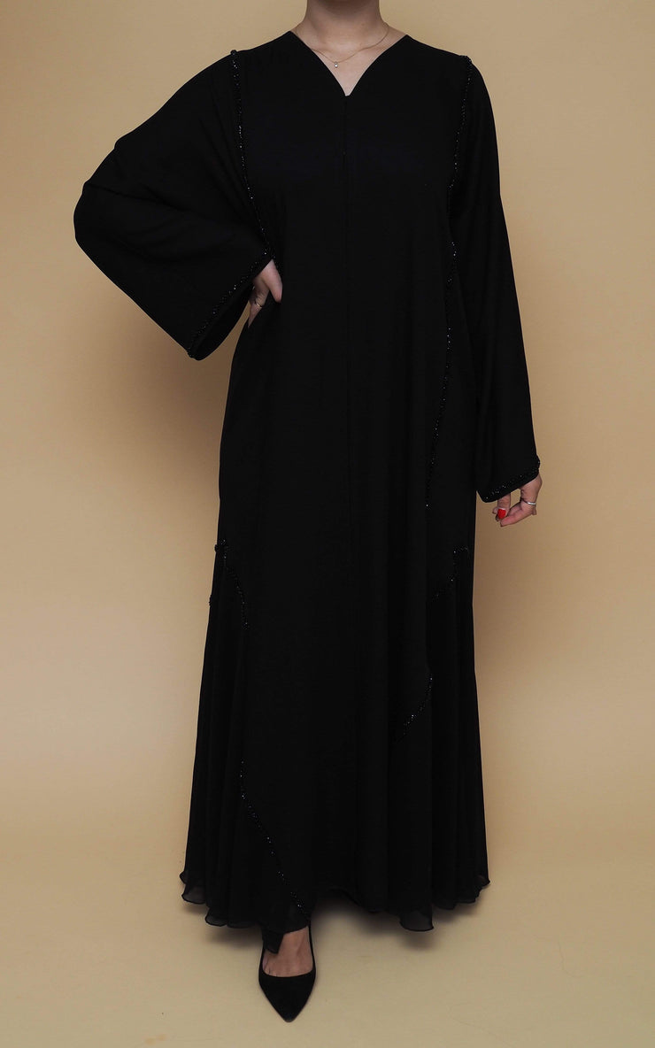 Open Abaya Kholoud Without Belt