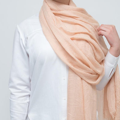 Nude Wool Mix Scarf