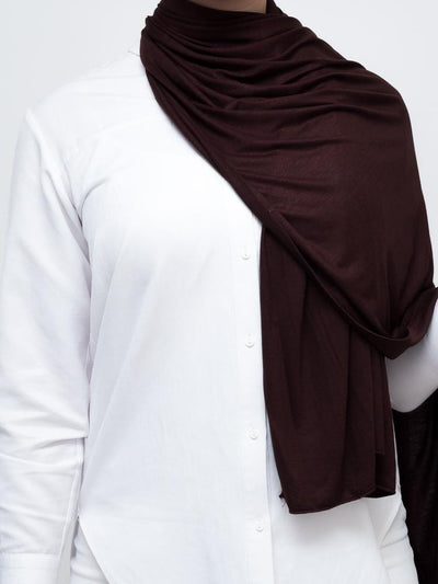 Jersey Hijab - Dark Brown