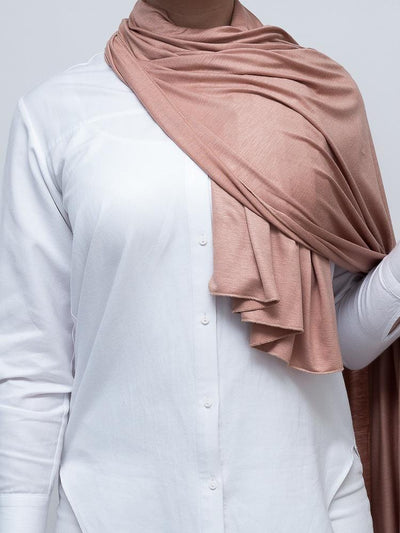 Jersey Hijab - Peachy Brown