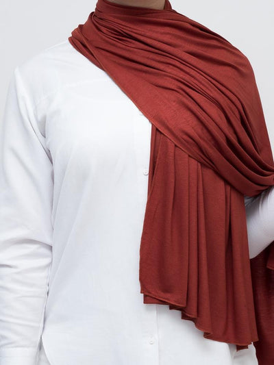 Jersey Hijab - Brick Red
