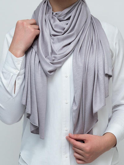 Jersey Hijab - Light Grey