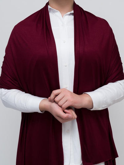 Jersey Hijab - Wine Red