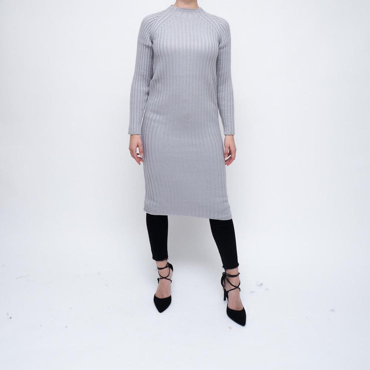 Light Grey Knit Dress