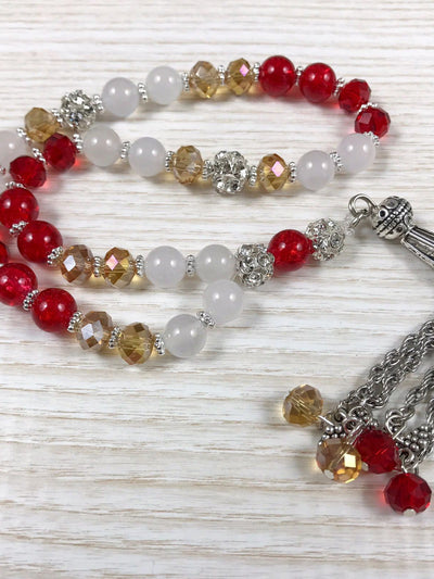 Red prayer beads / Tasbih