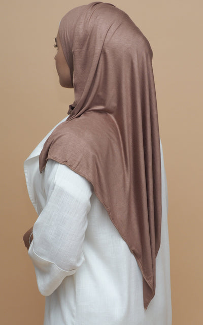 Jersey Hijab - Golden Brown