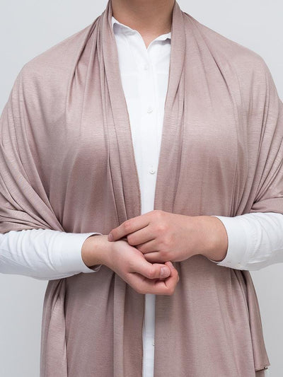 Jersey Hijab - Light Brown