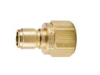 QC STRAIGHT THRU NIPPLE BRASS