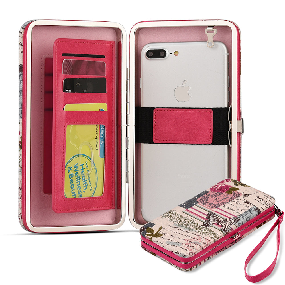 Pink Universal Phone Wallet Case (New)