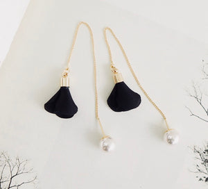 Women Imitation Pearls Drop Earrings