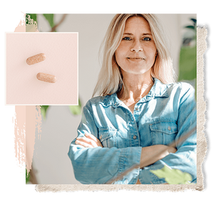 woman considering the benefits of S-equol, the naturally derived plant compound